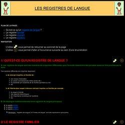 Fiche de synthèse: EXPR. ÉCRITE - Registres de langue