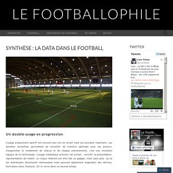 Synthèse : la data dans le football