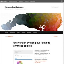 Une version python pour l'outil de synthèse colorée