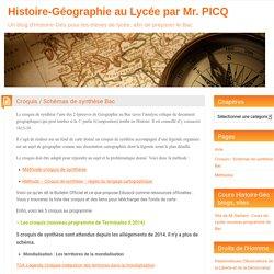 Croquis / Schémas de synthèse Bac – Histoire-Géographie au Lycée par Mr. PICQ