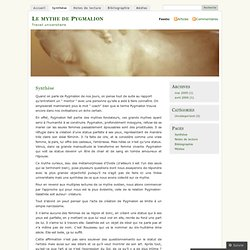 Synthèse « Le mythe de Pygmalion