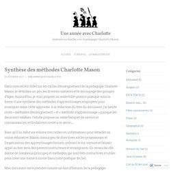 Synthèse des méthodes Charlotte Mason