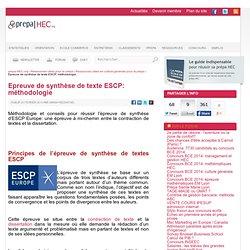 Epreuve de synthèse de texte ESCP: méthodologie et conseils - prepa-HEC.org
