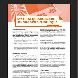 Synthèse questionnaire jeu vidéo 2016 et liste des jeux vidéo 2017.pdf