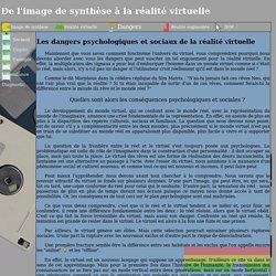 De l'image de synthèse à la réalité virtuelle