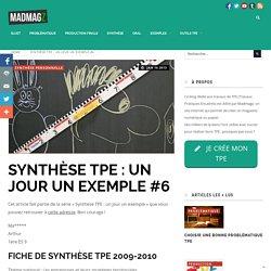 Synthèse TPE : un jour un exemple #6