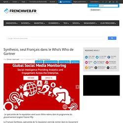 Synthesio, seul Français dans le Who's Who de Gartner