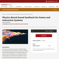 Physics-Based Sound Synthesis for Games and Interactive Systems