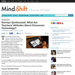 Surveys Synthesized: What Are Teachers' Attitudes About Classroom Technology?