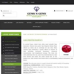 Sale Of Loose Rubies
