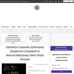 Synthetic Cannabis Extremely Dangerous Compared to Natural Marijuana, New Study Reveals
