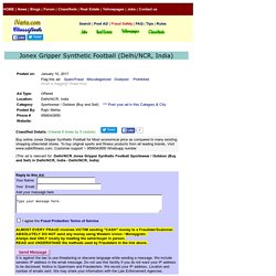 Jonex Gripper Synthetic Football Delhi/NCR Sportswear