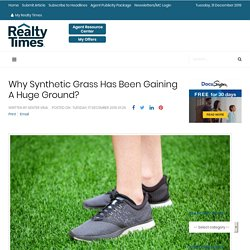 Why Synthetic Grass Has Been Gaining A Huge Ground?