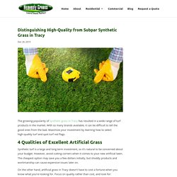 How to Tell Quality Synthetic Grass in Tracy from Inferior Turf Products