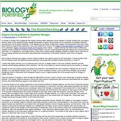 Organic Farming Reliant on Synthetic Nitrogen