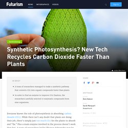 Synthetic Photosynthesis? New Tech Recycles Carbon Dioxide Faster Than Plants