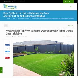 Synthetic Turf Prices Melbourne