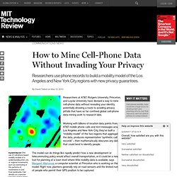 """Synthetic Records"" Make Cell-Phone Data Safe to Mine"