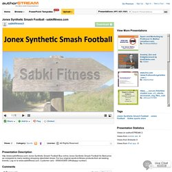 Jonex Synthetic SmashFootball - Sabkifitness.Com