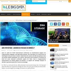 ADN synthétique : l'avenir du stockage de données ?