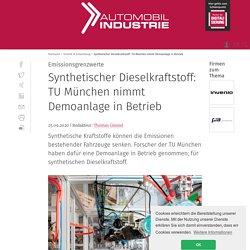 Synthetischer Dieselkraftstoff: TU München nimmt Demoanlage in Betrieb