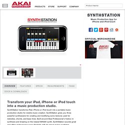 SynthStation Music Production App for iPhone and iPod touch
