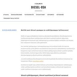 Dieselkorjaamo syöttöpumput, suuttimet