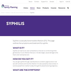 Syphilis - Family Planning