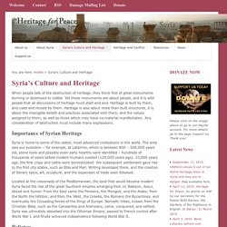 Syria's Culture and Heritage