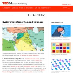 Syria: what students need to know