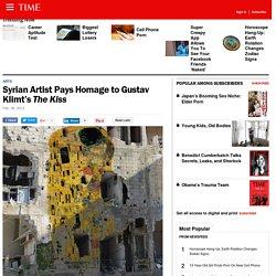 Syrian Artist Tammam Azzam Pays Homage to Gustav Klimt's 'The Kiss'