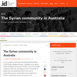 The Syrian community in Australia
