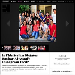 Is This Syrian Dictator Bashar Al-Assad's Instagram Feed?