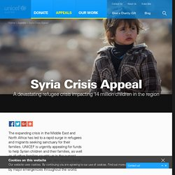 War in Syria - Syrian Refugee Appeal - UNICEF Australia