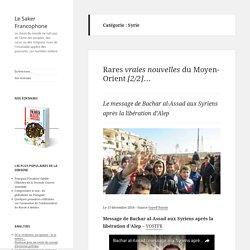 Articles sur le site du Saker Français