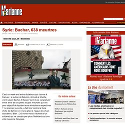 Syrie: Bachar, 638 meurtres