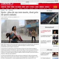 Syrie : plus de 191 000 morts, dont près de 9000 enfants - 22/08/2014 - ladepeche.fr