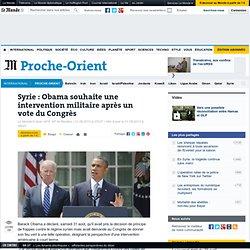 Syrie : Obama attendra un vote du Congrès