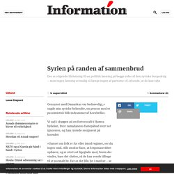 Syrien på randen af sammenbrud