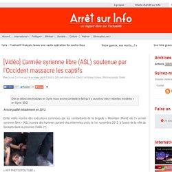 2012 massacre de jeunes syriens par l'ASL modérée