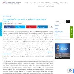 Documenting Syringomyelia - A Chronic Neurological Disorder