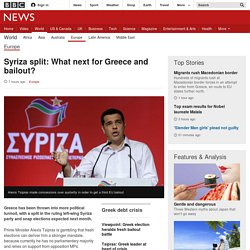 Syriza split: What next for Greece and bailout?