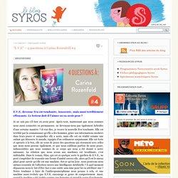 Le blog des éditions SYROS