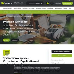 Solution de bureau virtuel Systancia Workplace - Interface d'accès immédiat à son bureau virtuel