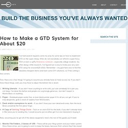 How to Make a GTD System for About $20 · The Cranking Widgets Bl