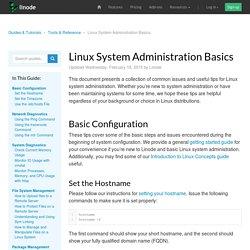 Linux System Administration Basics - Linode