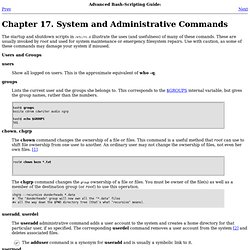 System and Administrative Commands