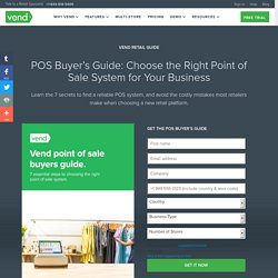 Choose The Right POS For Your Business