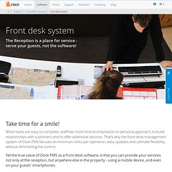Front desk system that enables faster and better guest service