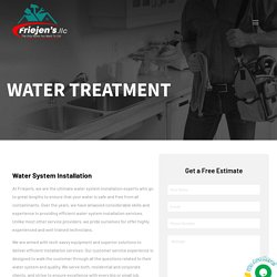 Water System Installation Services